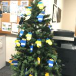 Christmas Tree with Mitten decorations